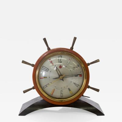 Seth Thomas Seth Thomas Rudder SHIP Wheel Electric Alarm CLOCK Vintage 1951