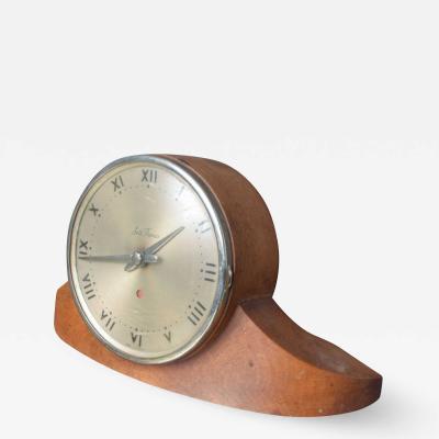 Seth Thomas Vintage Seth Thomas Dynaire 2 E Wood Mantel ART DECO Clock 1950s