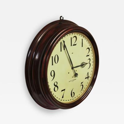 Seth Thomas c 1900 Large American Mahogany Gallery Clock