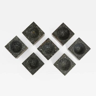 Seven Swedish Granite Salters Circa 1900
