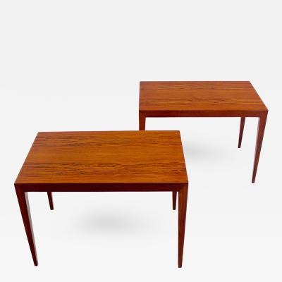 Severin Hansen Exceptional Pair of Danish Modern End Tables Designed by Severin Hansen