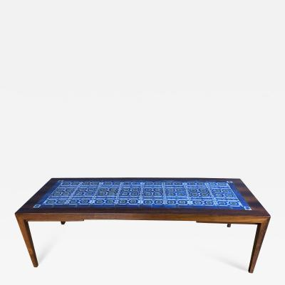 Severin Hansen Rosewood and Tile Coffee Table Denmark 1960s