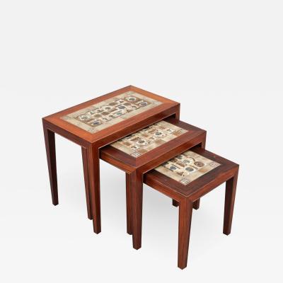 Severin Hansen Set of Three Nesting Tables by Severin Hansen Jr
