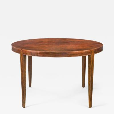 Severin Hansen Severin Hansen Danish Rosewood Expandable Center Dining Table