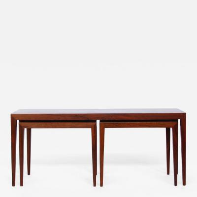 Severin Hansen Severin Hansen Nesting Rosewood Side Tables
