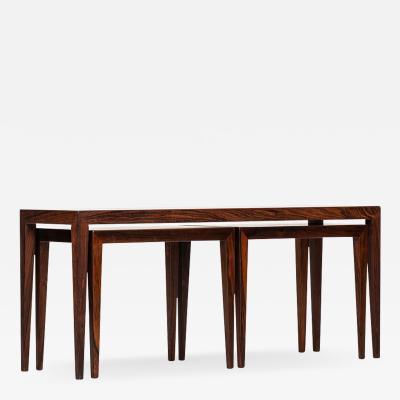 Severin Hansen Severin Hansen Nesting Tables Produced by Haslev M belsnedkeri in Denmark