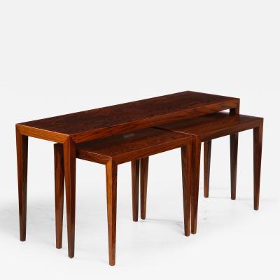 Severin Hansen Severin Hansen Rosewood Nesting Tables Circa 1960s