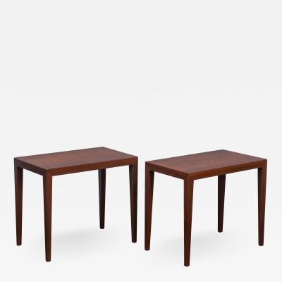 Severin Hansen Severin Hansen Rosewood Side Tables for Haslev