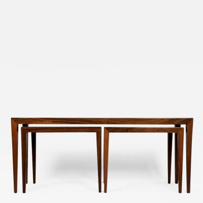 Severin Hansen Severin Hansen for Haslev Rosewood Nesting Tables