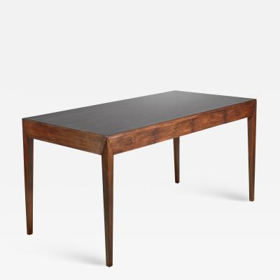 Severin Hansen Severin Hansen mahogany desk for Haslev Denmark 1960s