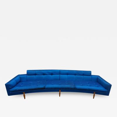 Sexy Curved American Mid Century Modern Two Piece of Sofa