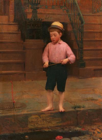 Seymour Joseph Guy Boy Fishing 1871