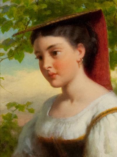 Seymour Joseph Guy Young Woman in Traditional Italian Dress