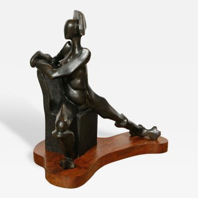 Seymour Rosenwasser Sy Rosenwasser Bronze Sculpture entitled Valiant Woman