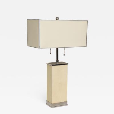 Shagreen AERO Tall Woodblock Table Lamp
