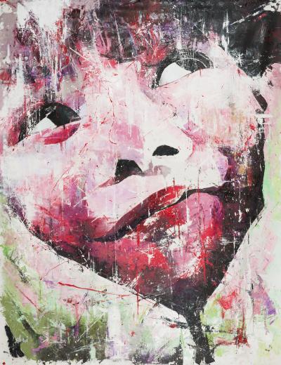 Shai Yossef Original graffiti style oil on canvas painting by Shai Yossef Girls World