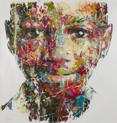 Shai Yossef Original graffiti style oil on canvas painting by Shai Yossef The New Black