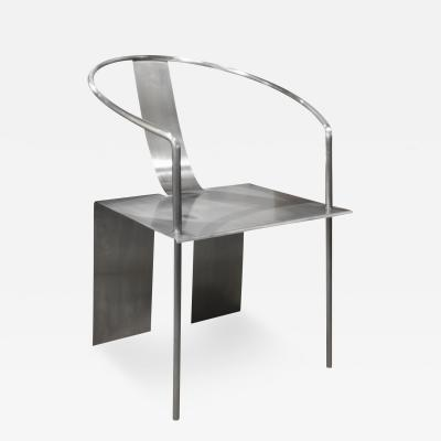 Shao Fan Shao Fan Sculptural Stainless Steel Chair 2000 signed dated and numbered