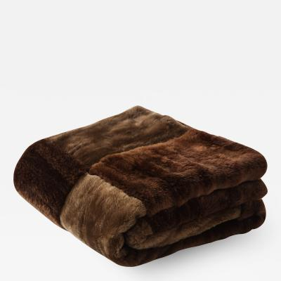 Sheared Beaver Pashmina Blanket