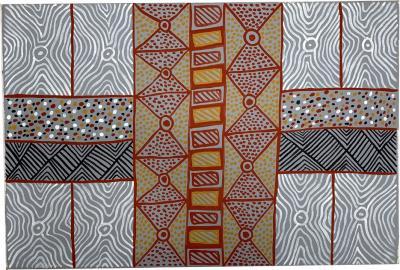 Sheila Puruntatameri An Australian Aboriginal Painting of Body Paint Design