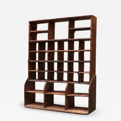 Shelving with soft wood structure 1900s