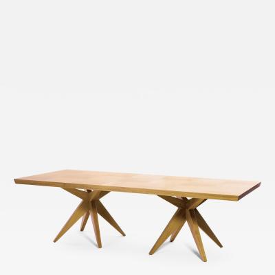 Sherwood Hamill Double Bonfire Dining Table Seats 10 12