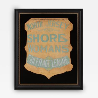 Shield Shaped Banner From the North Jersey Shore Womans Suffrage League