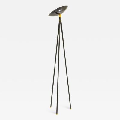 Shigeaki Asahara Black Palomar Floor Lamp by Shigeaki Asahara for Stilnovo 1980s
