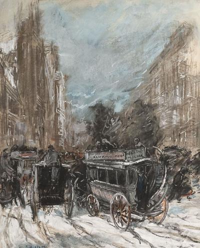 Everett Shinn Fifth Avenue