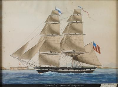 Ship Leander of Salem at Smyrna 1831