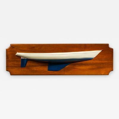 Shipbuilders half block model of classic 1960s yacht