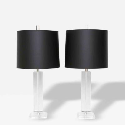 Shirley Ritts Pair of Astrolite Lucite Column Lamps by Shirley Ritts