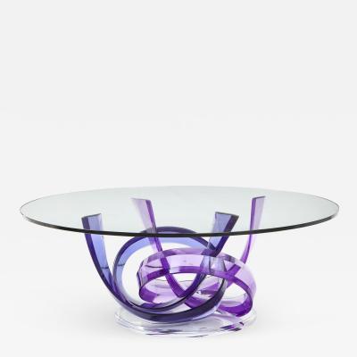 Shlomi Haziza Haziza Indigo Violet Acrylic Ribbon Coffeetable