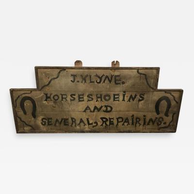 Shop Sign for Horse Shoes American Late 19th Early 20th Century