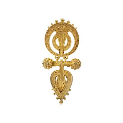 Shreve Co 1880s George C Shreve Co Articulated Brooch Pendant