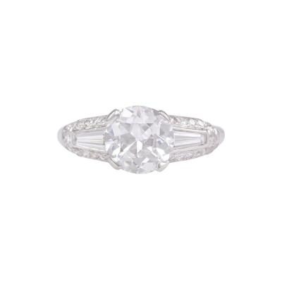 Shreve Co Shreve and Co Art Deco Diamond Engagement Ring
