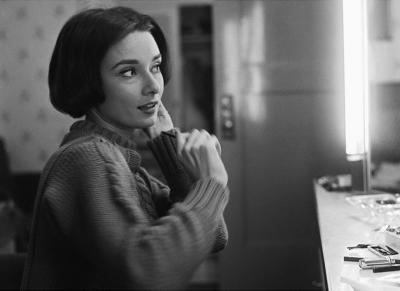 Sid Avery Audrey Hepburn at Her Dressing Room Mirror