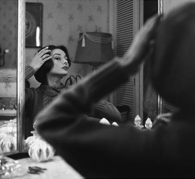 Sid Avery Audrey Hepburn at Her Dressing Room Mirror From Left
