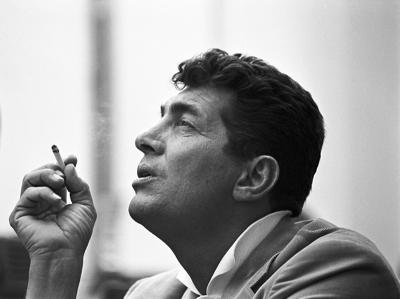 Sid Avery Dean Martin During a Break from his Television Show in Hollywood
