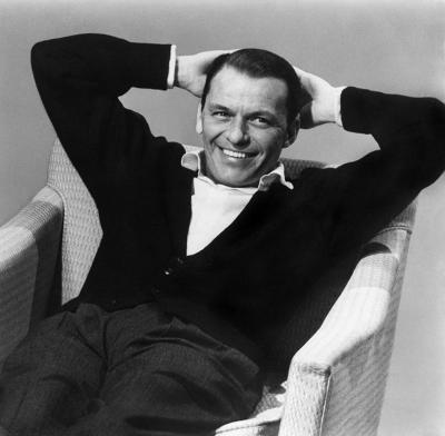 Sid Avery Frank Sinatra During a Capitol Records Album Cover Shoot for Nice n Easy