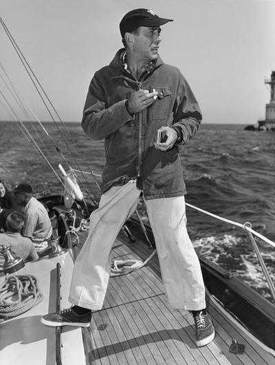 Sid Avery Humphrey Bogart on his Yacht Santana