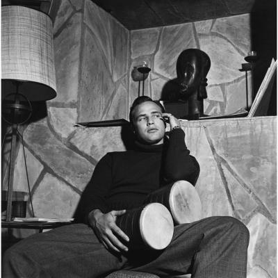 Sid Avery Marlon Brando at his Beverly Glen Home in Los Angeles