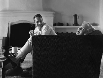 Sid Avery Paul Newman and Joanne Woodward at their Beverly Hills Home
