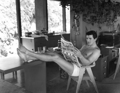 Sid Avery Rock Hudson at Home in North Hollywood