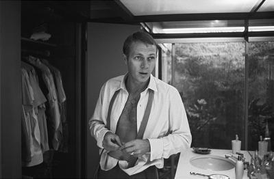 Sid Avery Steve McQueen at his Hollywood Hills Home on Solar Drive
