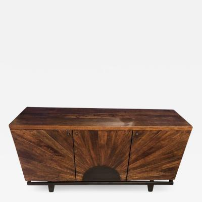 Sideboard or Server Mid Century Modern Style with Sunburst Design