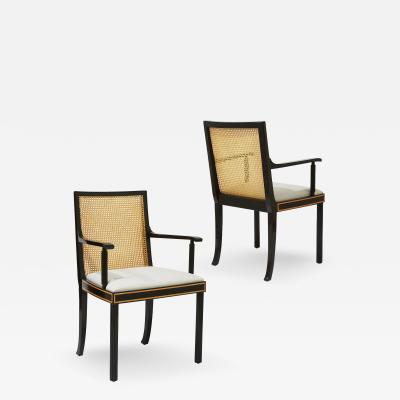 Sigurd Lewerentz Pair of Swedish Modern Classicism Armchairs in the style of Sigurd Lewerence