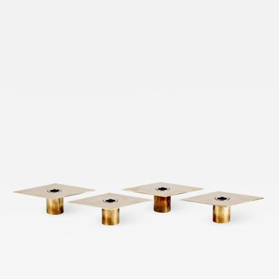 Sigurd Persson Set of 4 Candleholders by Sigurd Persson