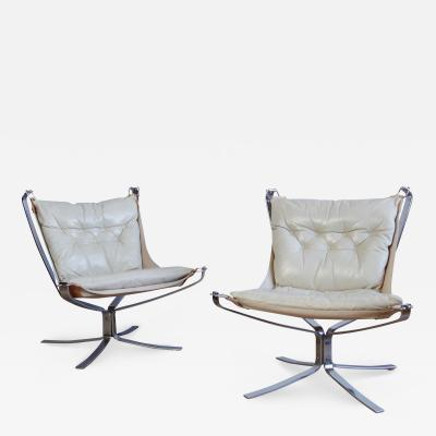 Sigurd Resell Pair of Sigurd Ressell Falcon Chairs