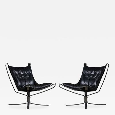 Sigurd Resell Sigurd Resell Pair of Falcon Chairs